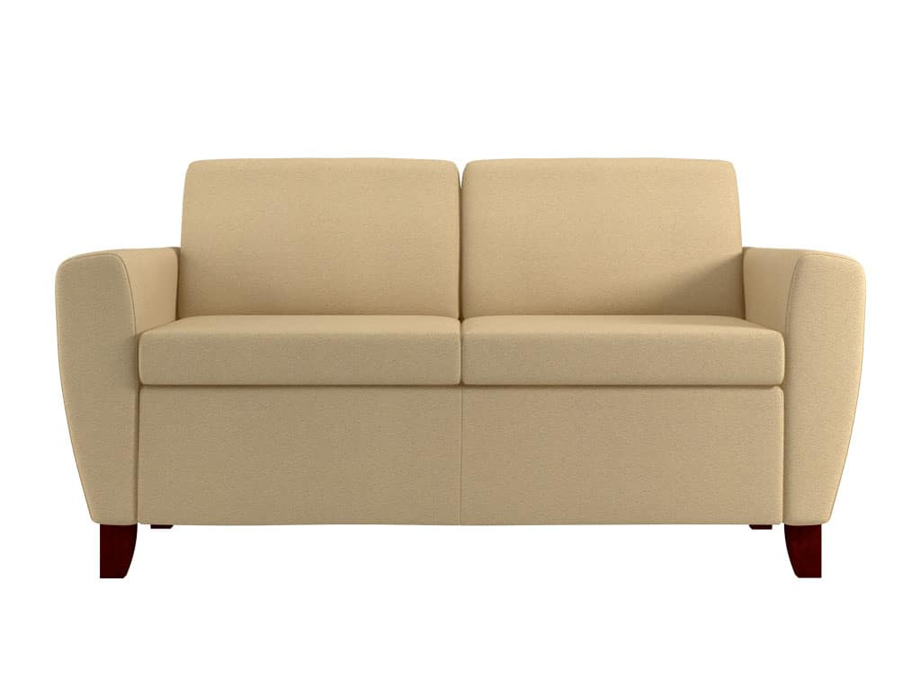 Front View of Rally Indulge Loveseat with Wood Feet